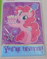 My Little Pony Pinkie Pie Birthday Party Invitation Cards & Envelopes 8 Pack New