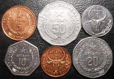 Madagascar Set 6 coins 1 2 5 10 20 50 Ariary 1996-2005 KM#23 24.2 25.1 27 29 30