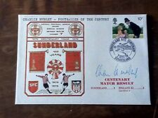 Charlie Hurley Signed Sunderland 100 Years Centenary Football Cover 1979