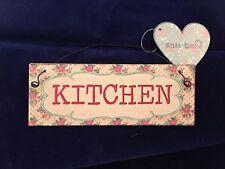'KITCHEN' Vintage Floral Metal Sign/Plaque 15 X 5.5 CM