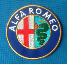 ALFA ROMEO CAR SPIDER MOTOR SPORTS RACING SEW IRON ON EMBROIDERED PATCH BADGE