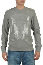 Just Cavalli Men's Gray Long Sleeve Crewneck Sweater Sz US M IT 50