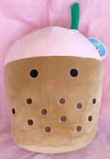 "Squishmallow Food Squad BERNICE the Boba Tea Plush Toy Large Size 12"""