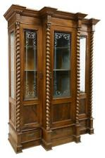 Antique Bookcase, French Louis Philippe Twist Column, 19th C. (1800s), Stunning