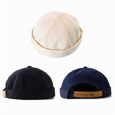 Men Unisex Street Casual Docker Sailor Biker Hat Loop Beanie Brimless Cap Gift