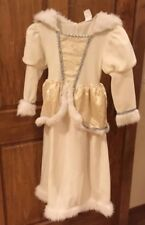 Just Pretend Girls Princess Dress White Costume Gown Dress Up Medium