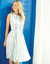NEW ORG $198 BODEN BLUE AND WHITE MONTE CARLO DRESS - SIZE US 12 L