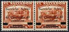 El Salvador 1929-30 SG#773Ab/773A 40c On 50c Air MH Pair #E13800