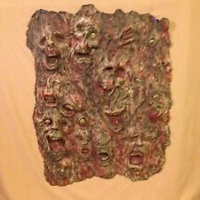 WALL OF FACES PANEL #2 HALLOWEEN HAUNT PROP HORROR HAND MADE