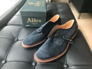 Alden Blue Suede Unlined Dover Barrie last US size 10 A/C
