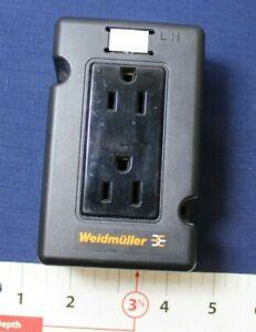 WEIDMULLER 15A 125V 50/60HZ 6720005421 SER A DIN RAIL RECEPTACLE OUTLET