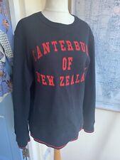 Mens Navy Blue Canterbury Of New Zealand Sweatshirt Size Large Rugby Logo