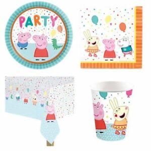 Peppa Pig Birthday Party Pack Bundle. Peppa Pig Party Tableware Peppa Pig Party