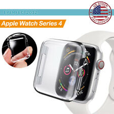 Fr Apple Watch Series 4 44mm iWatch Soft Clear TPU Snap On Case Screen Protector