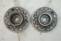 Pair of Antique Victorian / Eastlake Escutcheon Rosettes Door Plates Backplates