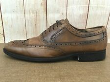Men's Sz 10M Brown Johnston & Murphy Tyndall Wingtip Oxford Shoe 20-3152 P49(5)