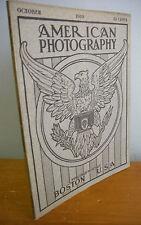 1910 AMERICAN PHOTOGRAPHY Magazine; Royal Exhibit, Ads, Patents etc