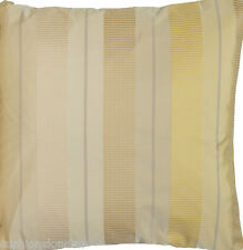 Stripes Cushion Cover Yellow Beige Cream Throw Pillow Case Silk Woven Fabric