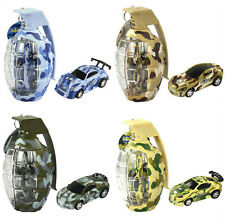 "4X 2.7"" Army Camouflage Mini Grenade Rc Car Remote Control Christmas Toy Gift"