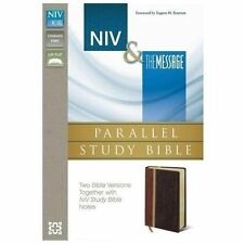Niv Message Parallel Study Bible by Zondervan Staff (2013, Imitation Leather,...