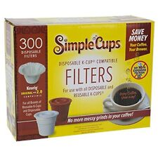 300 Disposable Coffee Filters Replacement Simple K Cups Used With Keurig Brewers