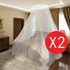 Dubbele klamboe muggennet voor rond bed 1020 x 230 x 56 cm (set van 2)