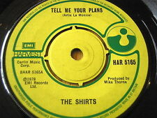 """THE SHIRTS - TELL ME YOUR PLANS   7"""" VINYL"""