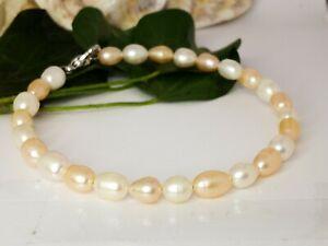 Classic UK Genuine Freshwater Pearl Bracelet Gift Boxed