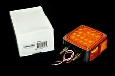 """Truck-Lite 2759 Signal-Stat 4.5"""" Double Face Red/Amber Square LED Pedestal Light"""