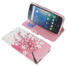 Custodia per Acer Liquid z630 Book-Style Guscio Protettivo Custodia Cellulare libro FLOWER LILLA