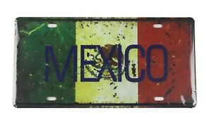 decorative items for bedroom Mexico flag tin sign car plate