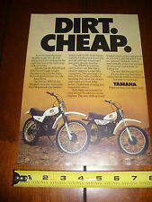 1979 YAMAHA MX100 MX175 - ORIGINAL AD