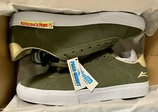 BRAND NEW Lakai x Theories Newport Low Skateboarding Shoes (Olive) - Size 11