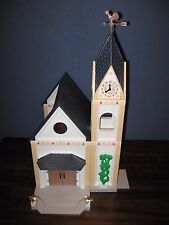 PLAYMOBIL 4296 WEDDING CHURCH-CHIMES-MUSICAL-STAINED GLASS WINDOWS-COLLECTOR-EXC