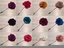Mens Cloth Lapel Pin Flower - Blazer - Wedding Boutonniere Gift - Christmas Gift