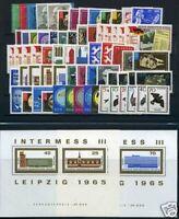 DDR Jahrgang 1965 postfrisch MNH jede MiNr 1x mit Block