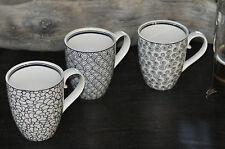3 Tassen Porzellan Set Geschenk Weiß mit Muster Tokyo Design Studio Japan