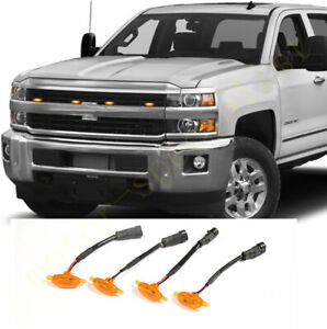 4x Grille LED Light Raptor Style Grill For Chevrolet Silverado 2500 HD 2015-2019