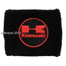 KAWASAKI RESERVOIR SOCKS BRAKE FLUID OIL TANK CUP COVER ZX 6 7 10 14 BLACK&RED