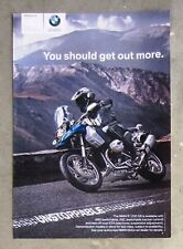BMW R1200GS 1200 ABS 2009 - Genuine Motorcycle Magazine Page Ad Advertisement