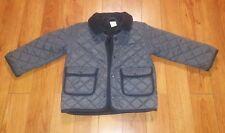 H&M Gray bomber jacket w/ corduroy neckline Size:12-18M