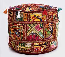 100% Cotton Mandala Round Ottoman Pouffe Cover Ethnic Foot Stool Pouffe