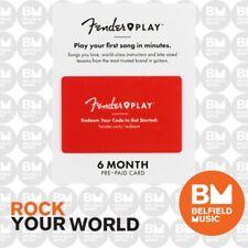 Fender PLAY 6 Month PrePaid Gift Card - 6206700041 - Guitar Lessons Online - BM