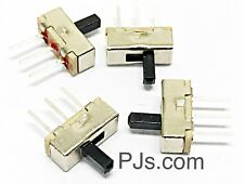SPDT 1P2T 2 Position 3 Pin PCB Panel Vertical Slide Switch x 4 Pcs