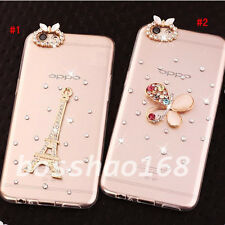 Bling Clear handmade Diamonds Crystal TPU Soft Back Case Cover Skin For Apple A