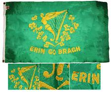 3x5 Embroidered Erin Go Bragh Ireland 300D Single Sided Nylon Flag 3'x5' 2 Clips