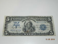 Vintage United States Five Dollar $5 Silver Certificate Bill 1899 SS # M99413395