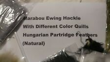 Marabou Ewing Hackle -Different Color Quills with Partridge Feathers New!