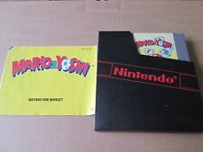 MARIO AND YOSHI ORIGINAL - NINTENDO NES WITH MANUAL DUST COVER TESTED PAL