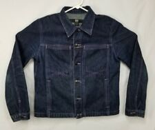 MARITHE FRANCOIS GIRBAUD X-Frame Dark Blue Jean Jacket Women's size L